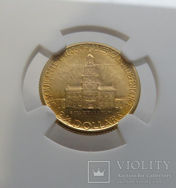 2,5 $ 1926 год США юбилейная золото 4,17 грамм 900`, фото №6