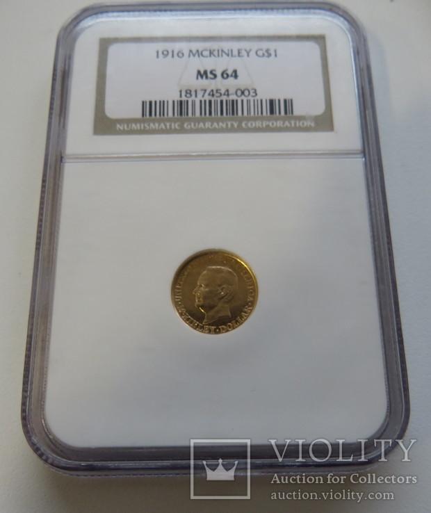 1 $ 1916 год США юбилейная