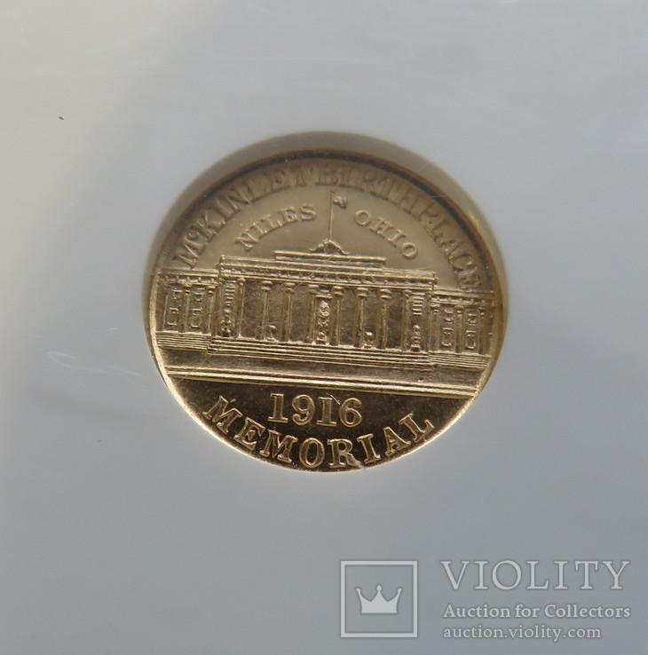 "1 $ 1916 год США юбилейная ""MCINLEY"" золото 1,66 грамм 900`, фото №5"
