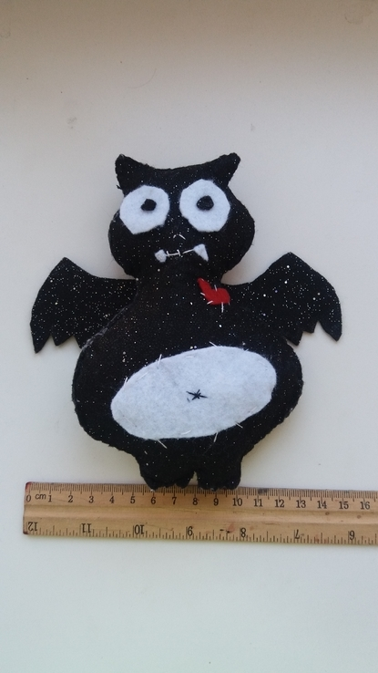 Вампир летучая мышь мягкая игрушка из фетра, фото №5