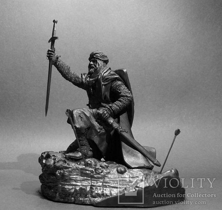 Рыцарь Ордена Тамплиеров на Святой Земле 12 век. 75мм., фото №2