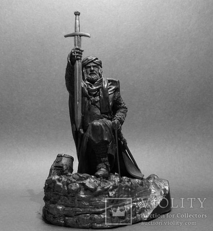 Рыцарь Ордена Тамплиеров на Святой Земле 12 век. 75мм., фото №4