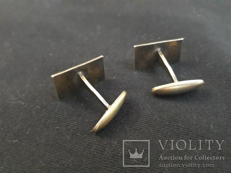 Запонки - серебро , эмаль ( голова 875 проба АМЮ5 ), фото №6