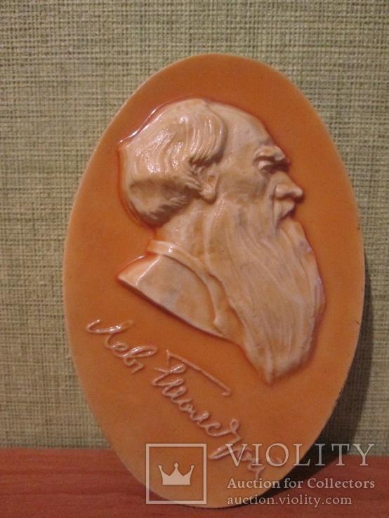 Барельеф плакетка. Л.Толстой., фото №2