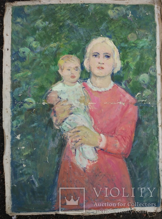 "Одесса, Варнавицкий Д.А.""Мать и дитя"",х.м.,70*50см, фото №2"