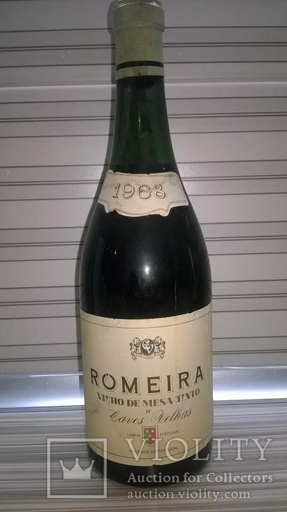 "Вино ""Romeira"", 1968 год, сухое, красное, Португалия, №2"