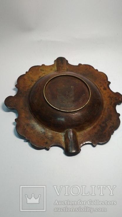 Старая бронзовая пепельница, фото №5