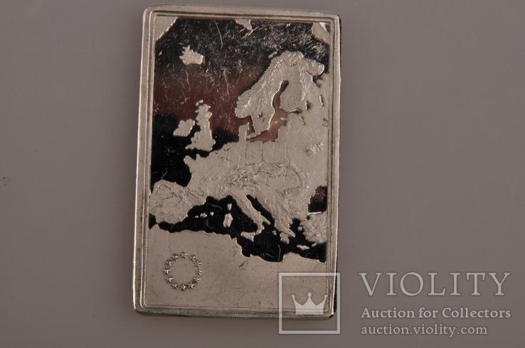 Плакетка серебро 925 Италия., фото №2