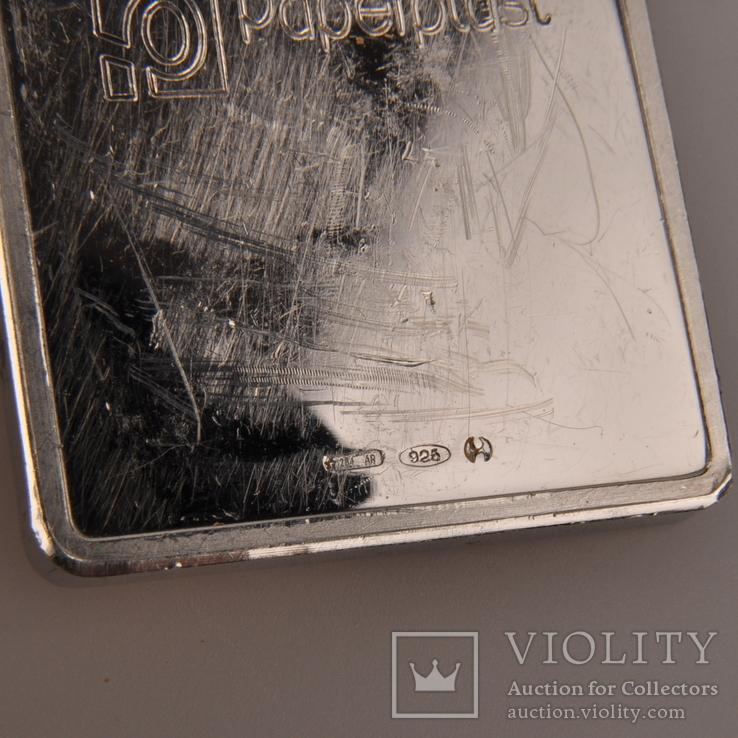 Плакетка серебро 925 Италия., фото №10
