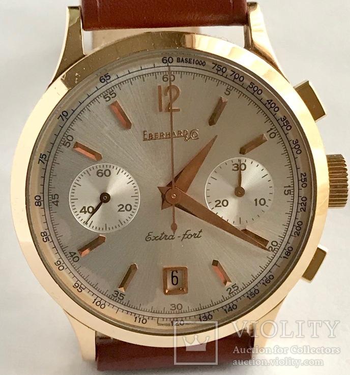 Часы хронограф EBERHARD & Co Extra-fort , золото 750 проба