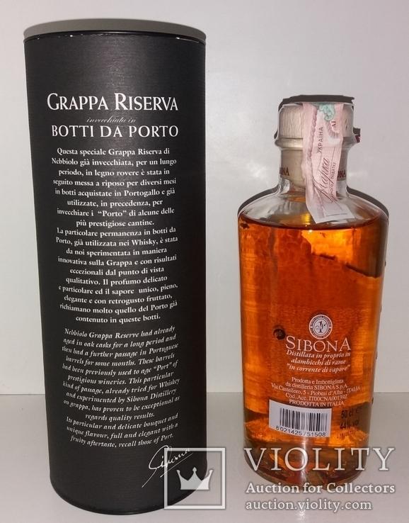 Граппа Grappa Sibona Riserva Botti Da Porto Wood Finish, Италия, фото №3