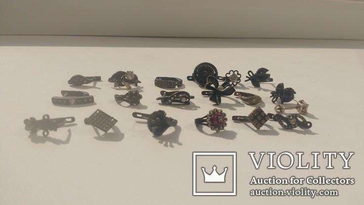 Серьги разные серебро 30грм, фото №2