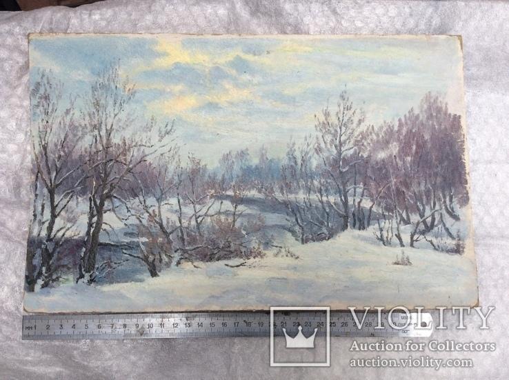 Пейзаж *Зима* н х