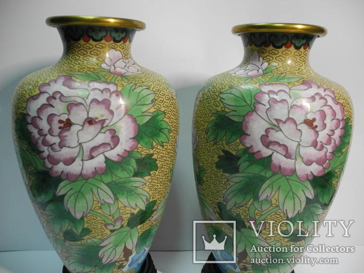 Пара ваз Клуазоне, фото №3