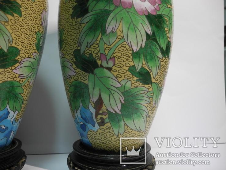Пара ваз Клуазоне, фото №5