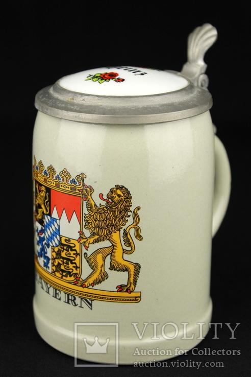 Коллекционная пивная кружка. Bayern. Wick Werke. Германия. (0901)