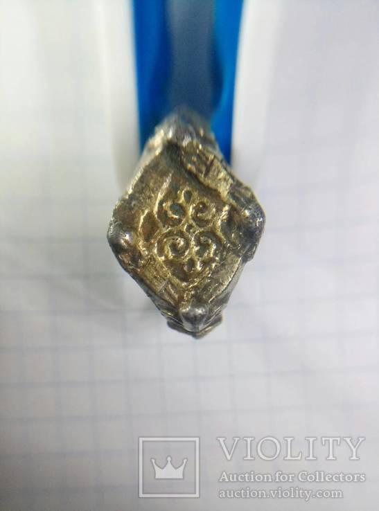 Рогатый Перстень серебро в позолоте