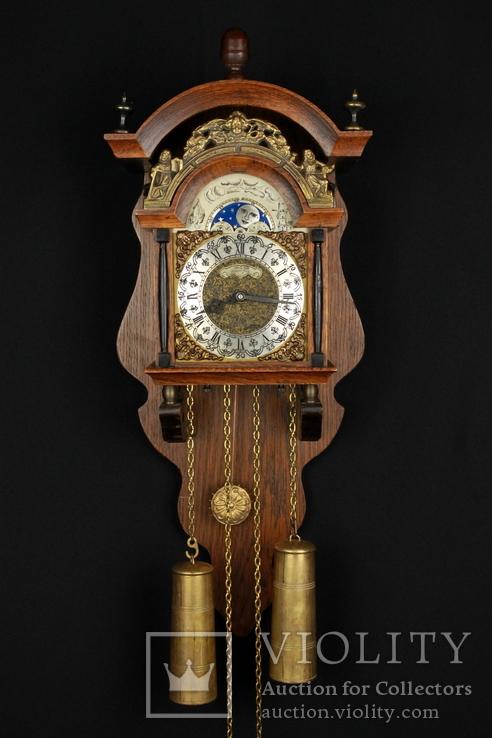 Настенные маятниковые часы WUBA с боем. Механизм Franz Hermle. Голландия. (0891)
