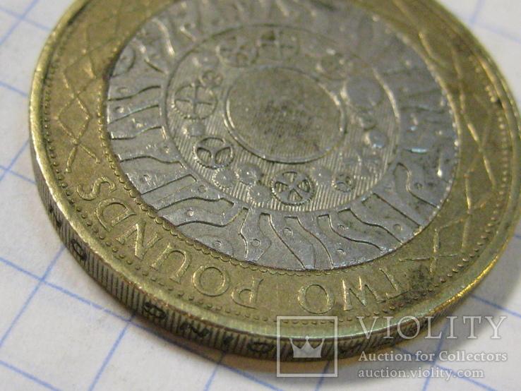 Великобритания 2 фунта, 2000, фото №4