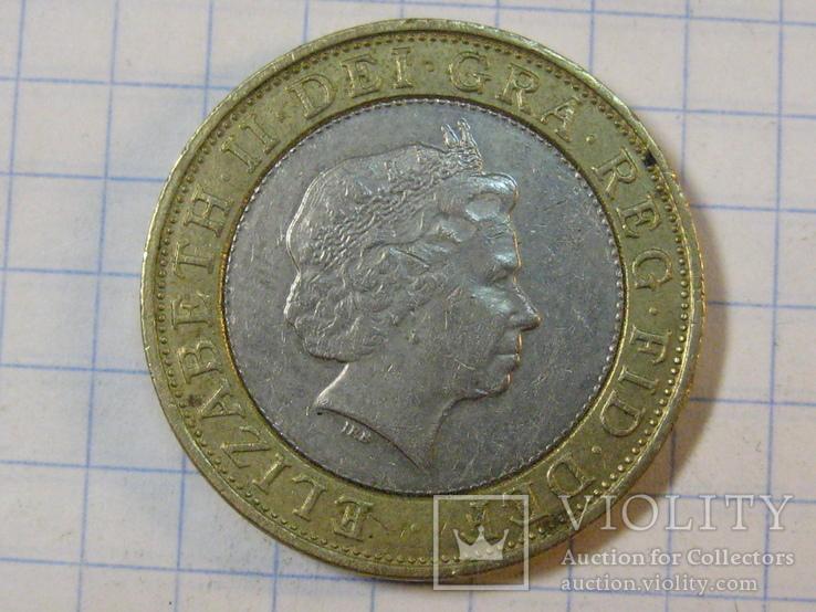Великобритания 2 фунта, 2000, фото №5