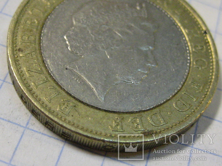 Великобритания 2 фунта, 2000, фото №6