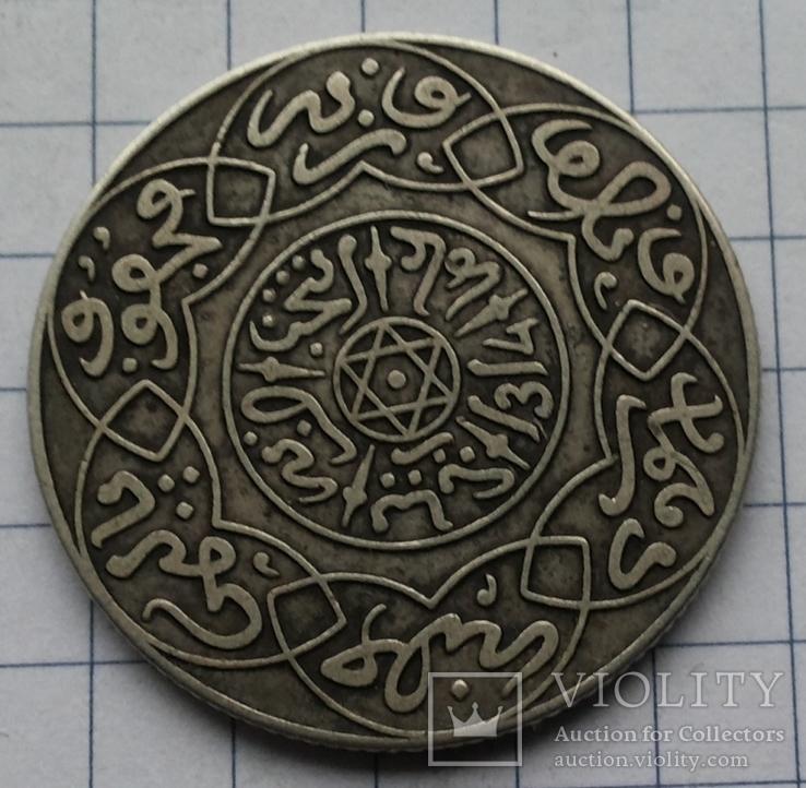 Марокко, 1 риал 1896 года, серебро