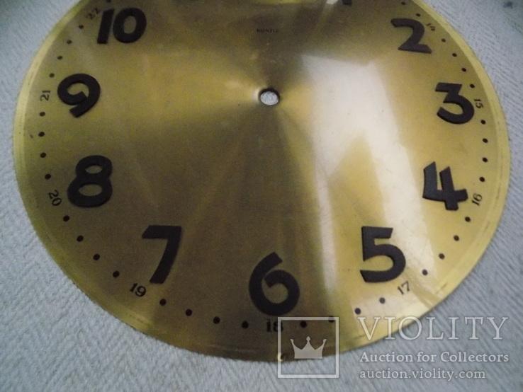 Латунний циферблат Kienzle підлогового Ø 29,5см, фото №4