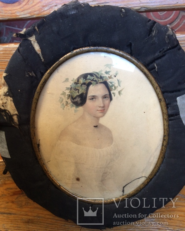 Портрет-миниатюра сер. 19 века