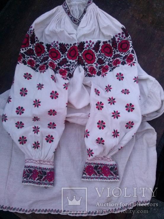 Одеська сорочка на весь рукав з качечками по подолку