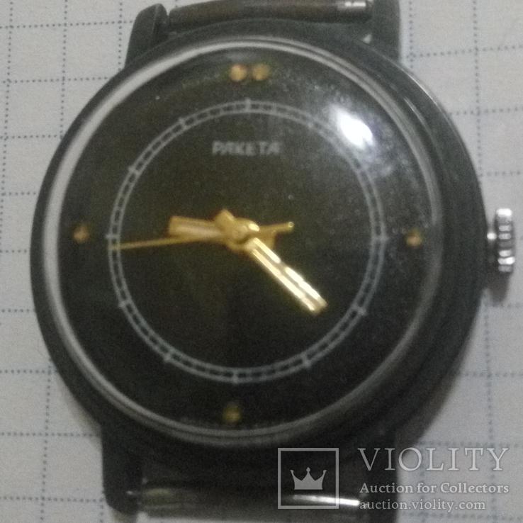 Часы Ракета черные