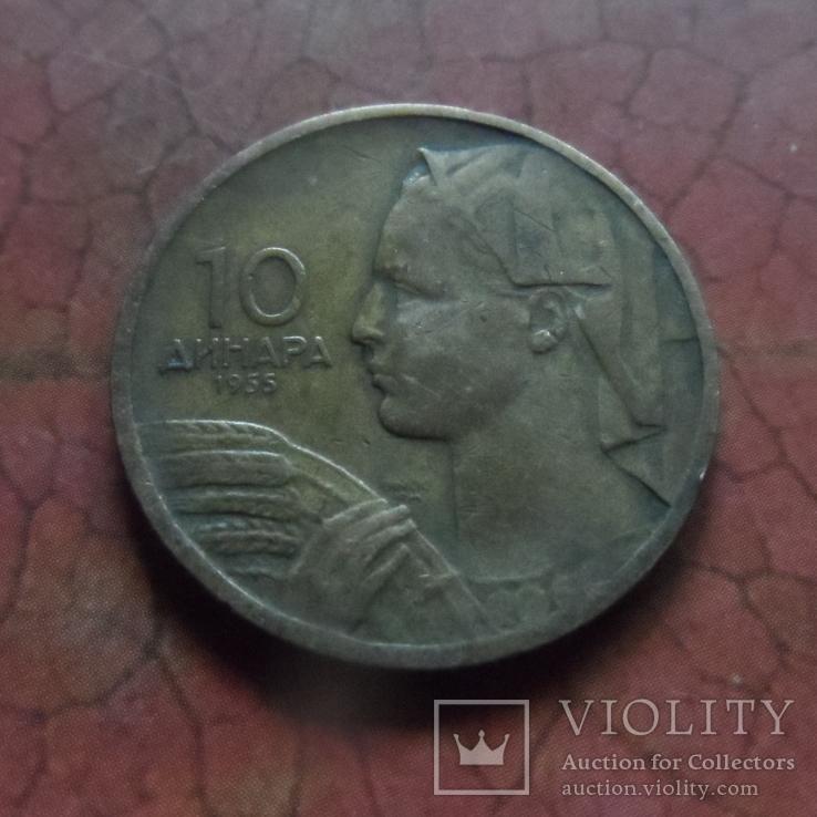 10 динаров 1955 Югославия  (3.1.2)~, фото №3