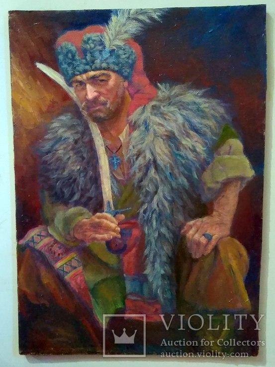 Кошовий Отаман Іван Сірко, Холст масло 30х21см