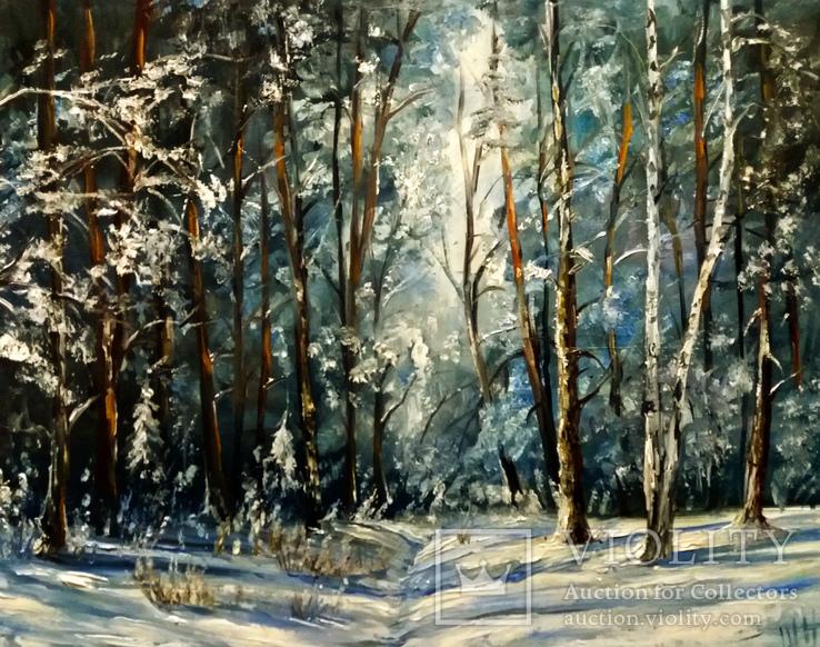 Зимний лес.40х50 Шаркади Н.