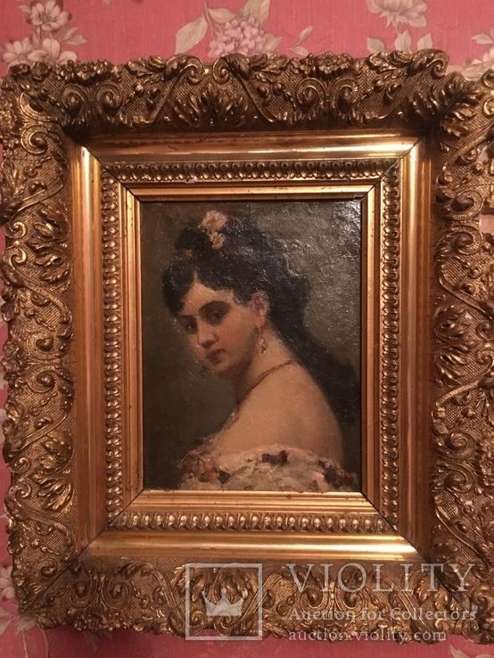 Портрет,живопись,в рамке