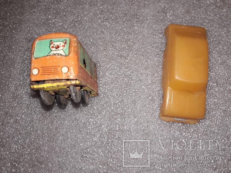 Вагончик заводной и машинка на востановление, фото №5