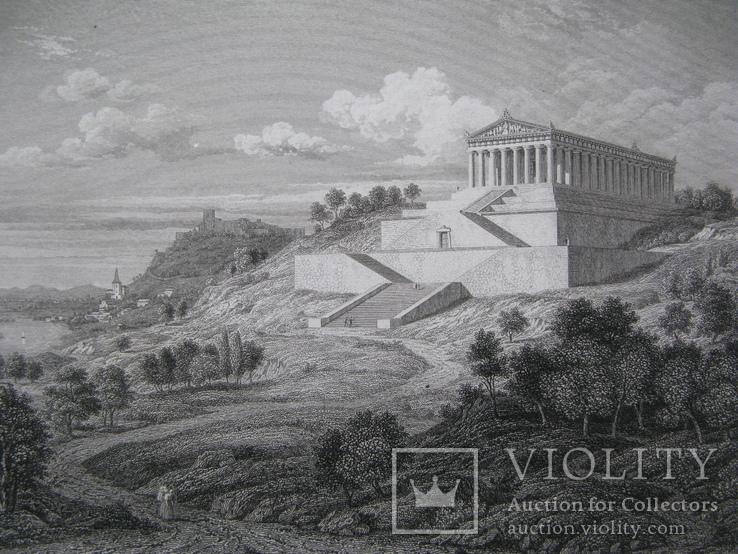 1847г. Гравюра Вальхалла -  рай для доблестных воинов 19 век