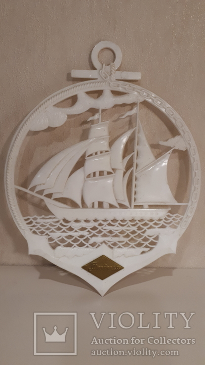 Сувенир на стену Парусник., фото №2