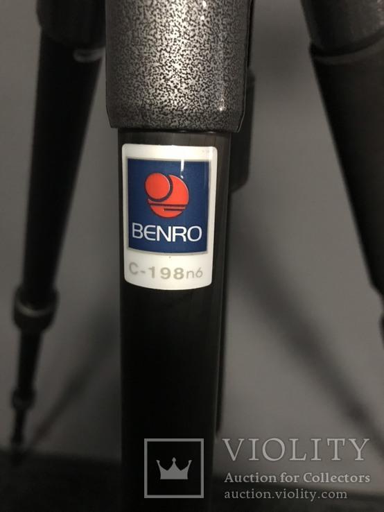 Штатив, тринога - Benro C198n6. Штативная голова Manfrotto 804RC2, фото №4