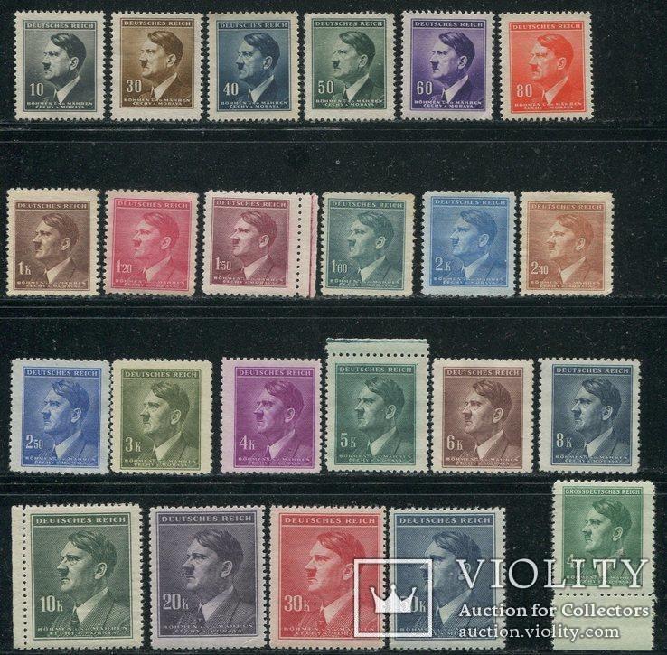 1942-45 Рейх Богемия Гитлер 2 полных выпуска