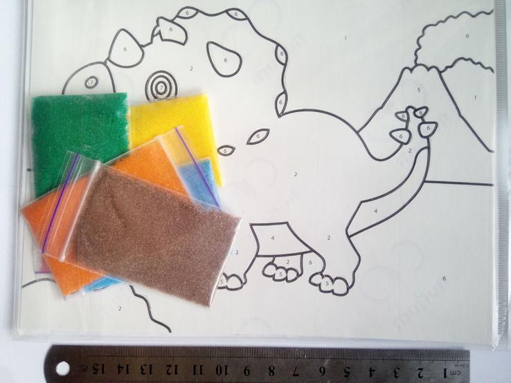 Набор для творчести 15х19 см картина с песка, фото №3