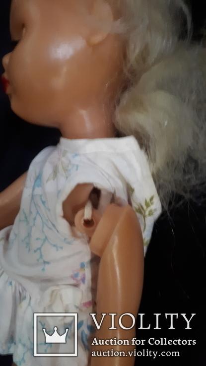 Пластмассовая кукла на резинках 44 см. Клеймо., фото №11