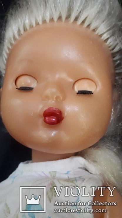 Пластмассовая кукла на резинках 44 см. Клеймо., фото №13
