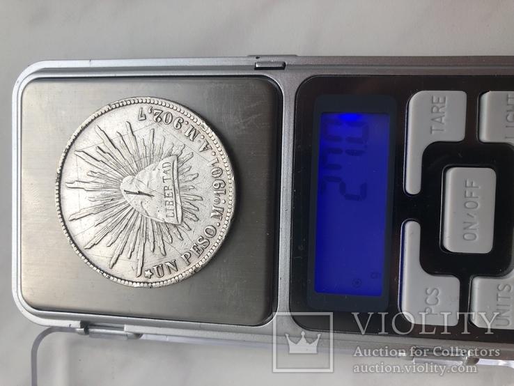 Монета Мексики  1901 срібло