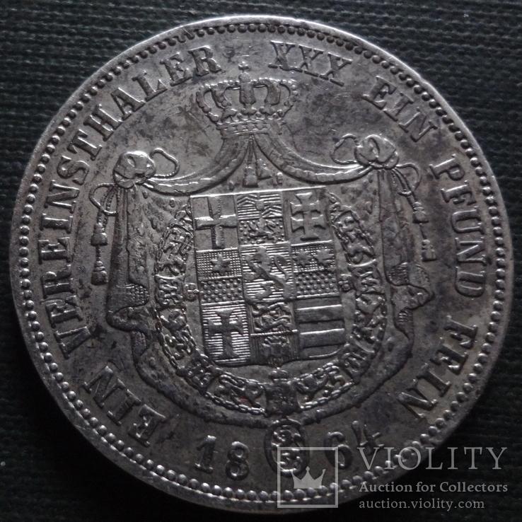 Талер 1864  Гессен   серебро   (А.2.2) ~