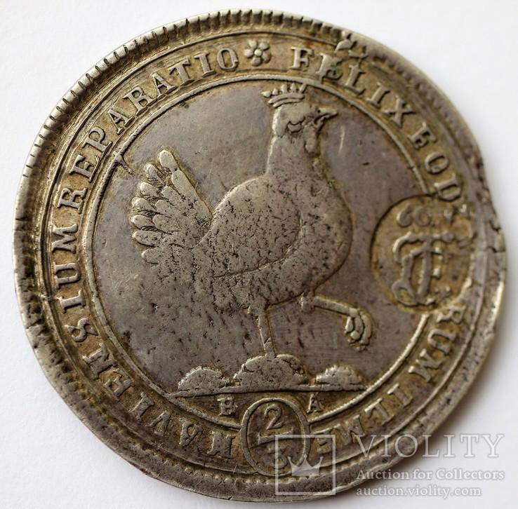 2/3Талера 1693 року Саксонія з надчеканом