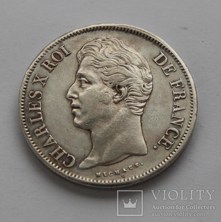 5 франков 1828 г Чарльз X серебро 25 грамм