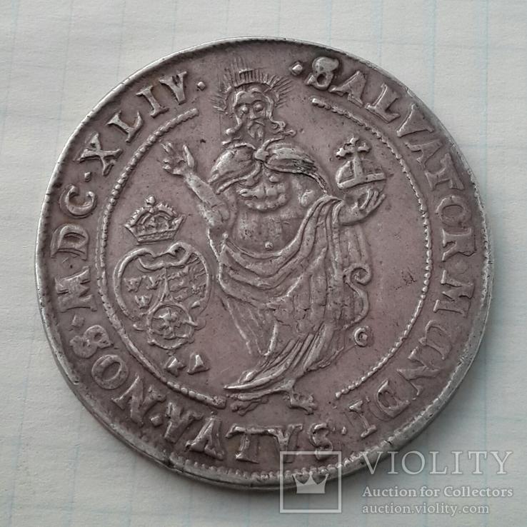 Шведский талер королевы Кристины 1644г. (MDCXLIV) (см. описание)