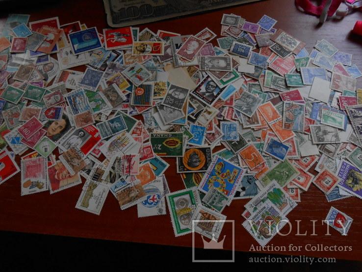 Почтовые марки 500 шт.