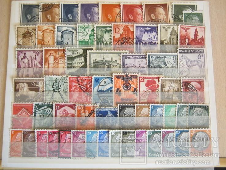 Подборка марок рейха без повторок 60шт