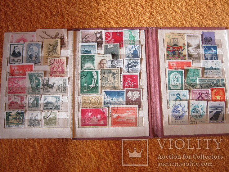 Подборка марок китай 1950-тих год 56марок